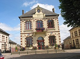 The town hall in Tourouvre au Perche
