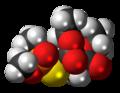 Malaoxon molecule spacefill.png