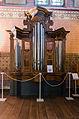Malchow Orgelmuseum Klosterkirche Gehäuseteil einer Barockorgel aus Pritzier.jpg