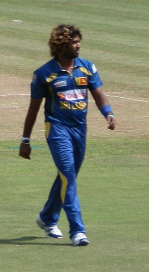 Lasith Malinga - Image: Malinga at Pallekele Stadium against South Africa