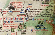 A 13th century drawing of Jerusalem