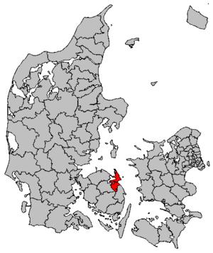 Kerteminde Municipality - Location of Kerteminde municipality