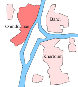 Map Sudan Ohmdurman