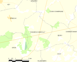 Mapa obce Chaumoux-Marcilly