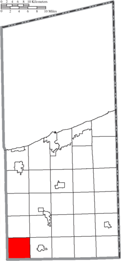 Location of Windsor Township in Ashtabula County