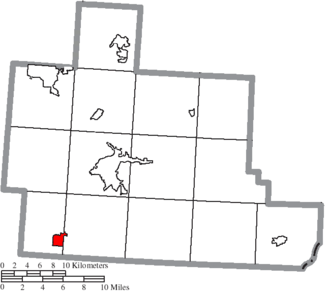 Albany, Ohio - Image: Map of Athens County Ohio Highlighting Albany Village