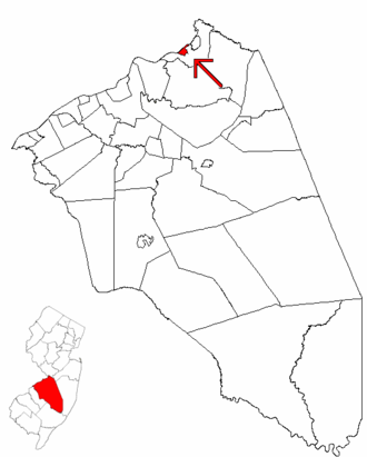 Fieldsboro, New Jersey - Image: Map of Burlington County highlighting Fieldsboro