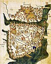 Map of Constantinople (1422) by Florentine cartographer Cristoforo Buondelmonte.jpg