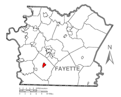 Map of Fairchance, Fayette County, Pennsylvania Highlighted.png