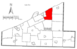 Map of Harborcreek Township, Erie County, Pennsylvania Highlighted