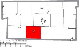 Killbuck Township, Holmes County, Ohio - Image: Map of Holmes County Ohio Highlighting Killbuck Township