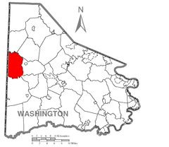 Map of Independence Township, Washington County, Pennsylvania Highlighted.png