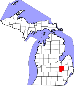 Map of Michigan highlighting Genesee County.svg