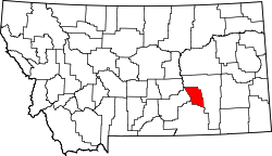 Map of Montana highlighting Treasure County.svg