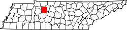 Map of Tennessee highlighting Dickson County.svg