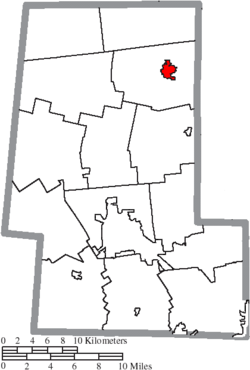 Location of Richwood in Union County