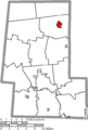 Map of Union County Ohio Highlighting Richwood Village.png