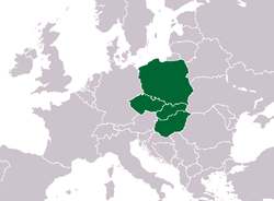 Map of Visegrad Group.png