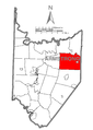 Map of Wayne Township, Armstrong County, Pennsylvania Highlighted.png