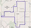 Map of the Hyde Park neighborhood of Los Angeles California.jpg