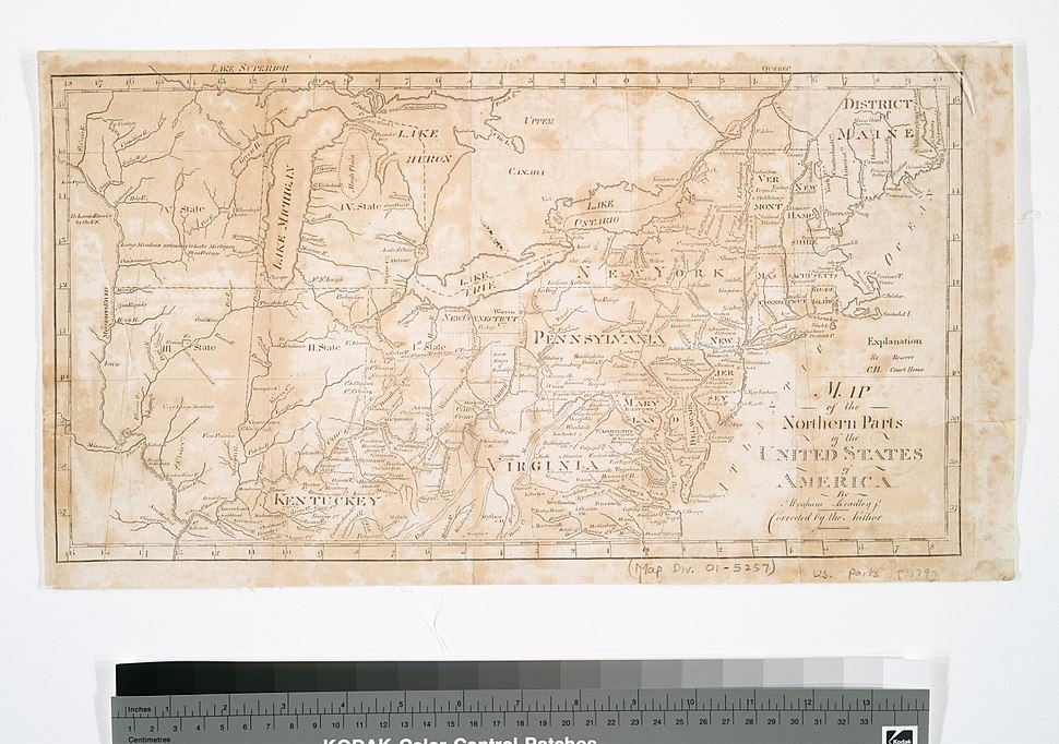 Map of the northern parts of the United States of America (1804)
