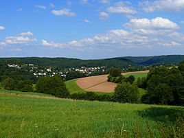 View on Marbach from west