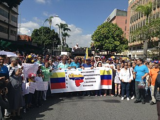 2018 Venezuelan presidential election - March in support of the candidacy of Lorenzo Mendoza on 15 January 2018