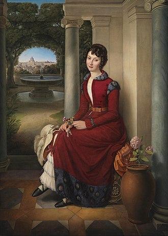 Heinrich Maria von Hess - Portrait of Marchesa Marianna Florenzi (1824)
