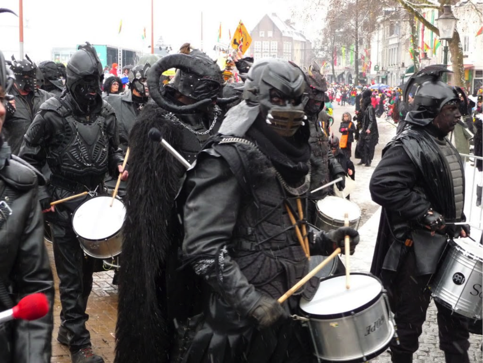 Marchingband in parade during the Dutch Carnaval 2012