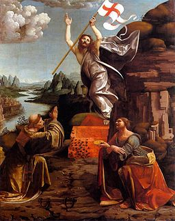 Marco d' Oggiono - Resurrection of Christ with Sts Leonardo and Lucy - WGA16634