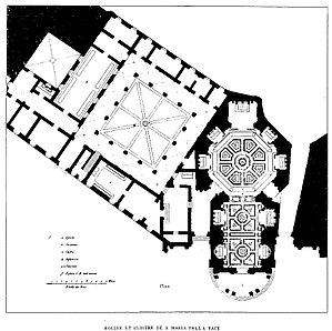 Santa Maria della Pace - Plan of the Church and Convent