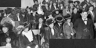 Marie Equi - Crowd of women in Portland, Oregon register for jury duty after gaining right to vote, 1912