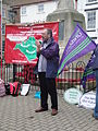 Mark Chiverton speaking at Isle of Wight Stop the Cuts rally May 2011.JPG