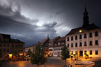 Radeberg - Image: Markt Radeberg Gewitter