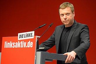 Martin Schirdewan - Image: Martin Schirdewan, Parteitag Bonn 2019