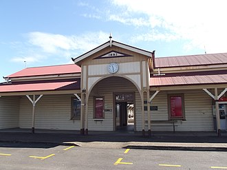 Maryborough railway station, Queensland - Station front in July 2012
