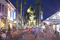 Masjid Sultan and Bussorah Street, Singapore, in the evening - 20140418.jpg