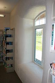 Matama Straw Bale Library Interior IMG 1443