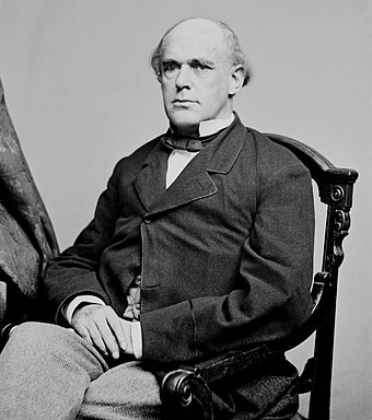 Salmon Portland Chase was Lincoln's Chief Justice. Mathew Brady, Portrait of Secretary of the Treasury Salmon P. Chase, officer of the United States government (1860-1865, full version).jpg
