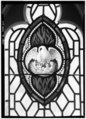 May 1968 DETAIL STAINED GLASS WINDOW, NORTH SIDE, 'PELICAN IN HER PIETY' - Trinity Church (P. E.), 651 Pequot Road, Southport, Fairfield County, CT HABS CONN,1-SOUPO,22-45.tif