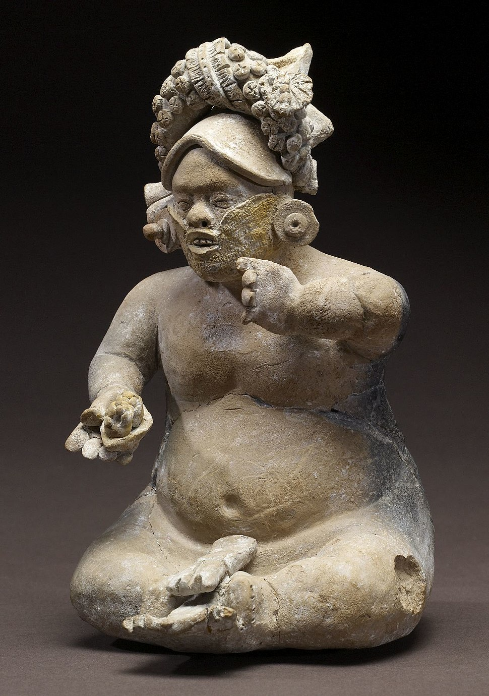 Mayan - Dwarf Figurine - Walters 20092036 - View A