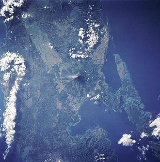 Mayon - Mayon in satellite image