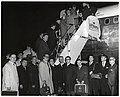 Mayor John F. and Mary Collins boarding a Lufthansa plane with unidentified men and women (10949993395).jpg