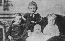 Portrait photo of four young children