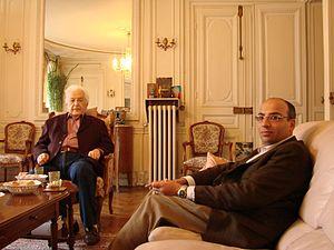 Mehdi Khalaji - Khalaji with Mohammed Arkoun, Paris, 2008