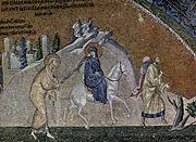 Mosaic of the journey to Bethlehem