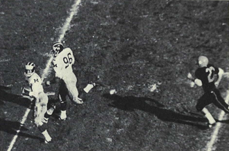 1964 Michigan Wolverines football team - Mel Anthony runs 84 yards for a record-setting touchdown in the 1965 Rose Bowl.
