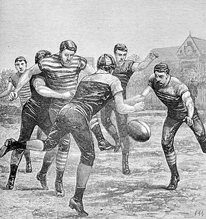 Oldest football clubs - An 1881 Australian rules football match between Melbourne and Geelong. Both clubs were founded in 1859 and currently compete in the Australian Football League (AFL), making them the world's oldest football clubs that are now professional.