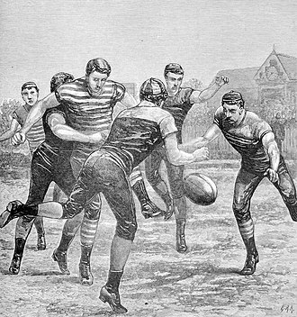 Oldest football clubs - An 1881 Australian rules football match between Melbourne and Geelong. Both clubs were founded in 1859 and currently compete in the Australian Football League (AFL), making them the world's oldest football clubs that are now professional