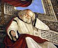 Melozzo da forlì, angeli coi simboli della passione e profeti, 1477 ca., profeta isaia 02.jpg